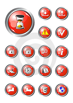 Red Buttons Collection Part 2 Stock Photos - Image: 8823533
