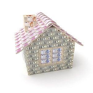 做的100美元房子 免版税图库摄影 - 图片: 8823967