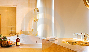 Enjoy Your Jacuzzi Bathtub Royalty Free Stock Photos - Image: 8824738