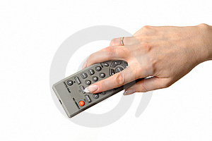 Hand Holding A Remote Stock Photo - Image: 8825270