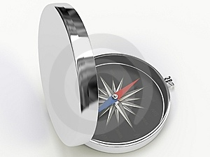 Metall Compass Royalty Free Stock Photography - Image: 8825367
