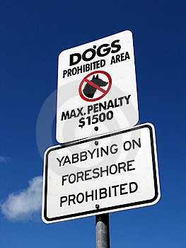Dogs Prohibited Sign Royalty Free Stock Images - Image: 8825369