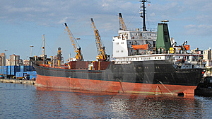 A Ship In The Port Of Alexandria Royalty Free Stock Photos - Image: 8825838