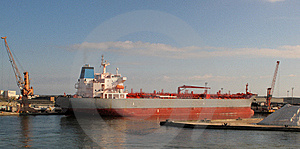 A Ship In The Port Of Ravenna Royalty Free Stock Photo - Image: 8825915