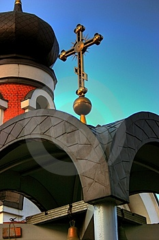 Church And Cross Royalty Free Stock Images - Image: 8825989