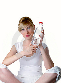 The Girl With Bottle Stock Image - Image: 8826021