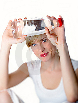 The Girl With Bottle Stock Images - Image: 8826054