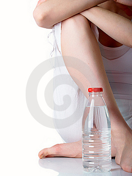 The Girl With Bottle Stock Photo - Image: 8826070