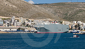 A Ship In The Port Of Pireaus Stock Photography - Image: 8826072