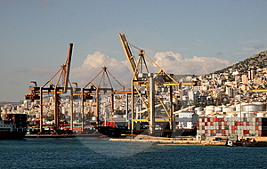 A Ships In The Port Of Pireaus Stock Photography - Image: 8826082