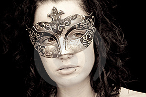 Masked Woman Royalty Free Stock Images - Image: 8826589