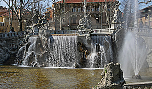 Twelve Months Fountain In Valentino Park Stock Photo - Image: 8827930