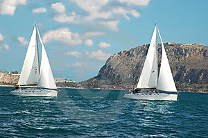 Yachts Near The Cost Stock Photography - Image: 8828202