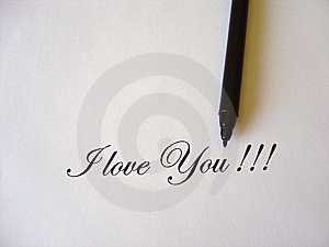 Text I Love You Written Royalty Free Stock Images - Image: 8828539