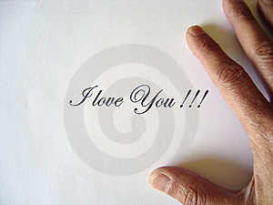 I Love You Written Stock Photography - Image: 8828552