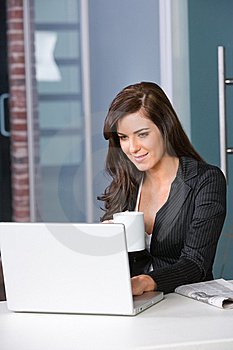 Business Woman In A Modern Office Stock Images - Image: 8831224