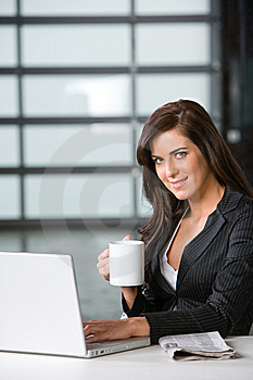 Business Woman In A Modern Office Stock Photos - Image: 8831313
