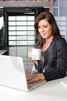 Business Woman In A Modern Office Royalty Free Stock Photo - Image: 8831635