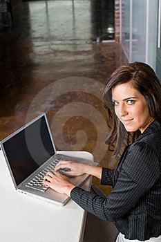 Bedrijfs Vrouw In Een Modern Bureau Stock Afbeelding - Afbeelding: 8831811