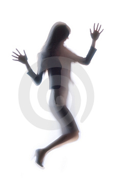 Diffused Silhouette Of A Woman Royalty Free Stock Images - Image: 8831959