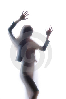 Diffused Silhouette Of A Woman Stock Images - Image: 8831984