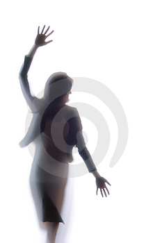 Diffused Silhouette Of A Woman Royalty Free Stock Photo - Image: 8832015