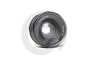 Old School Lens Isolated On White. Royalty Free Stock Image - Image: 8832066