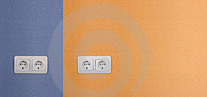 Four Electrical Outlets Royalty Free Stock Image - Image: 8834006