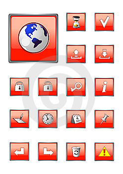 Red Icons Collection Part 2 Royalty Free Stock Photos - Image: 8834148