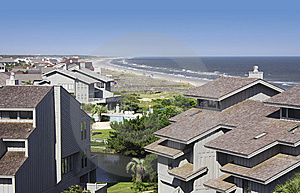 Beachfront Condos Royalty Free Stock Photo - Image: 8834485