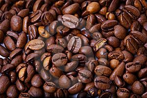 Fragrant Fried Coffee Beans Royalty Free Stock Photos - Image: 8835588
