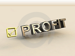 Checkbox In 3D And Profit Text Stock Photography - Image: 8836032
