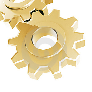 Golden Gear Royalty Free Stock Photo - Image: 8836275