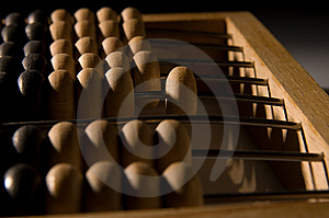 Obsolete Wooden Abacus Stock Image - Image: 8837441