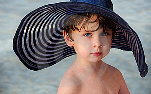 Boy In A Hat Royalty Free Stock Image - Image: 8840656