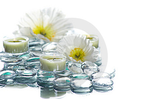 Day Spa With Flowers Candles Royalty Free Stock Images - Image: 8840759