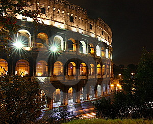 Colosseo At Night, Rome Royalty Free Stock Photography - Image: 8841717