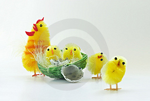 Easter Chickens Stock Image - Image: 8841811