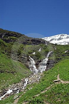 Waterfall At Glacier National Park Royalty Free Stock Photo - Image: 8841845