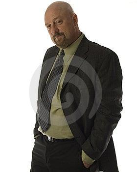 Businessman 40's Smiling Hand In Pocket  Stock Image - Image: 8842221
