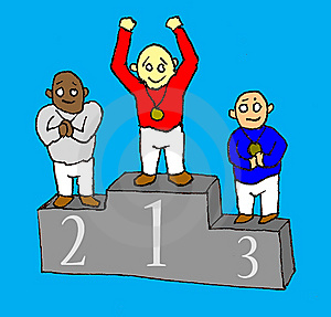 Winners Stand Royalty Free Stock Photo - Image: 8843075