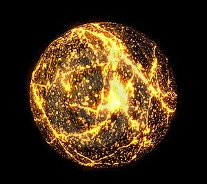 Magma Ball Stock Image - Image: 8843481