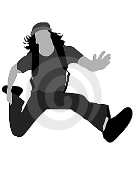 Casual Man Jumping In Air Royalty Free Stock Image - Image: 8844016