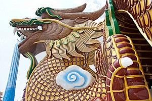 Huge Dragon Sculpture Stock Image - Image: 8846441