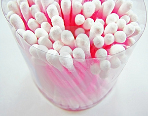 Cotton Swabs Pot Stock Images - Image: 8846984