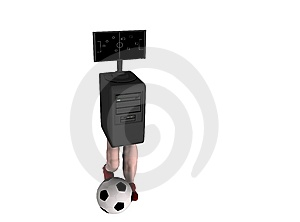 Computer Soccer Game Royalty Free Stock Photo - Image: 8847615