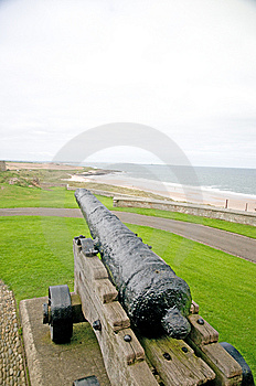 Cannon And The Coast Royalty Free Stock Photo - Image: 8848775