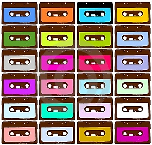 Cassettes Colorées Photo stock - Image: 8849680