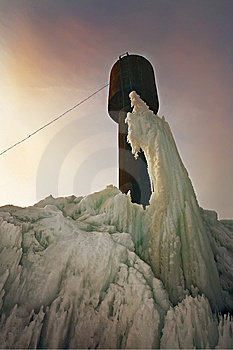 Arctic Landscape With Frozen Tower Stock Photos - Image: 8850753