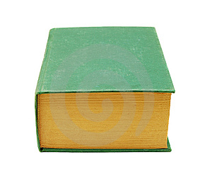 Thick Green Book Royalty Free Stock Images - Image: 8851139